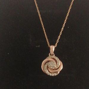 10k rose gold necklace